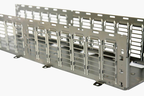 Metal chassis with multiple tabs and small-sized slots