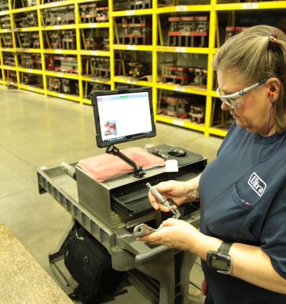 Quality audit checks on the manufacturing floor