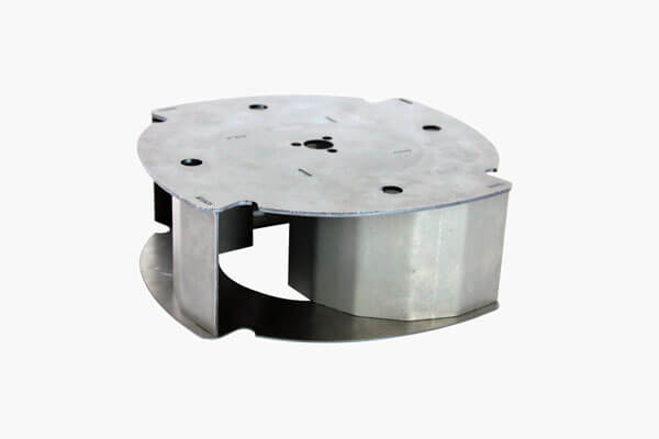 Impeller disks and blades in outdoor power equipment