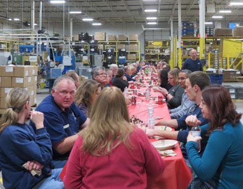 Company-wide holiday celebration