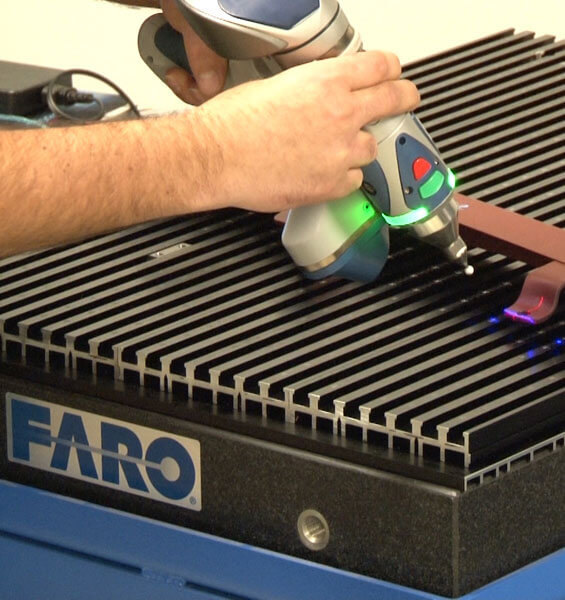 Faro Arm technology verifying part specifications
