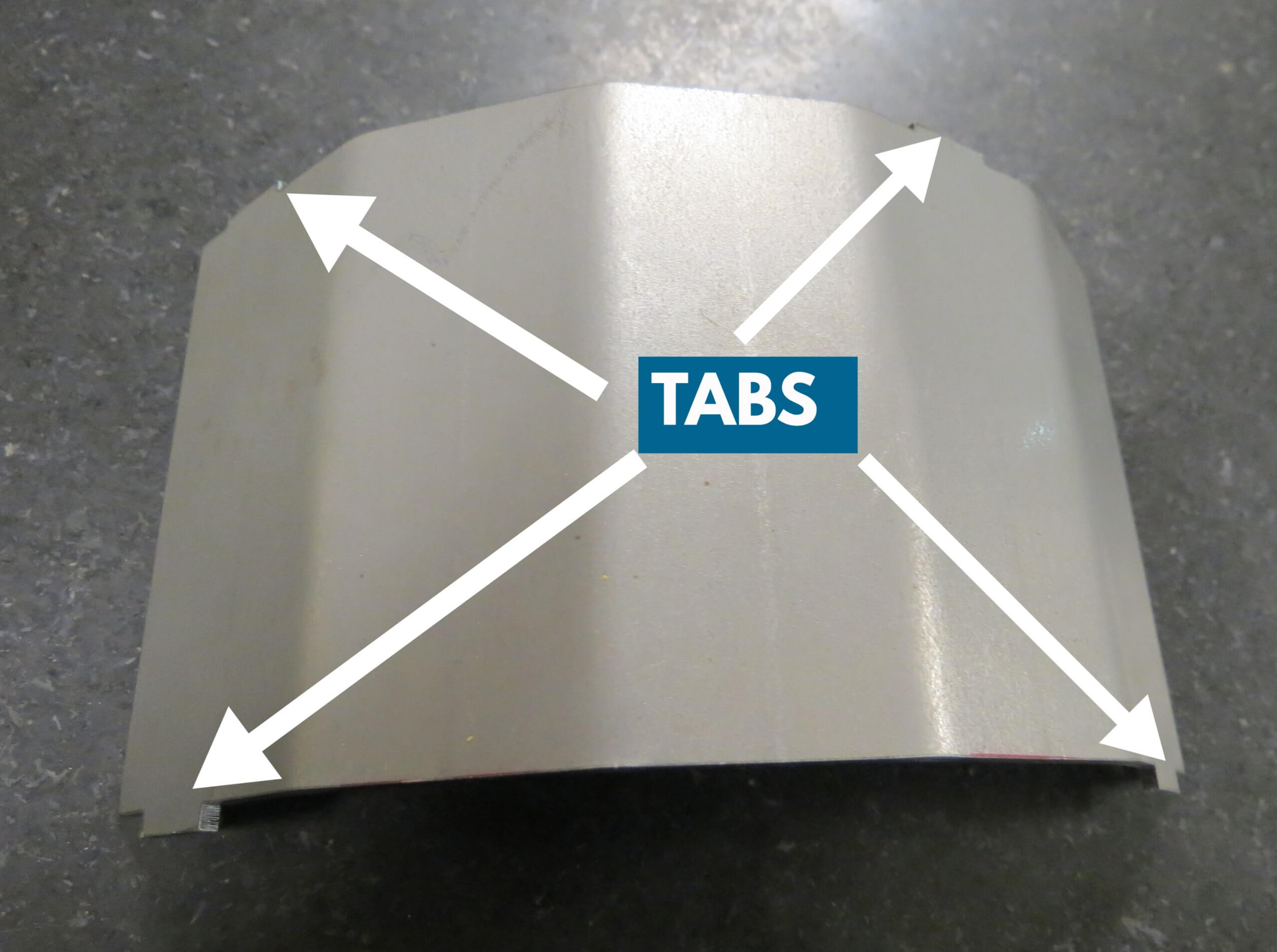 Blades with tabs
