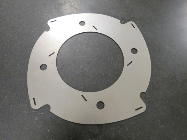 Disk with holes