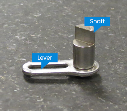 Assembled metal part