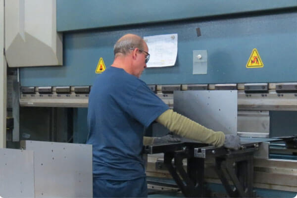 Achieving custom designed bends in larger metal parts