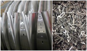Metal parts for the fitness and automotive industries