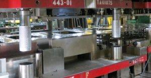 metal stamping in 800-ton press