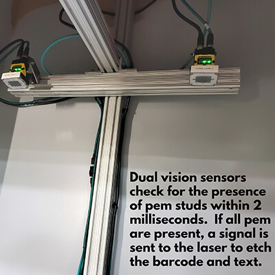 Vision and Laser Cart Text